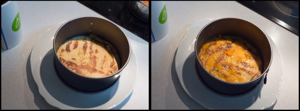 Tarta de tortitas y zanahoria