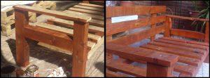 Sillón con madera de palet